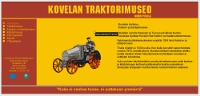 Screenshot of a tractor museum's site