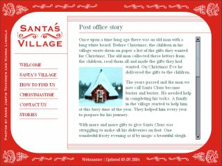 Screenshot of Santa's Village home page