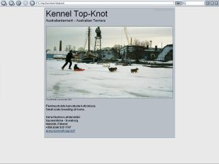 Screenshot of a kennel home page